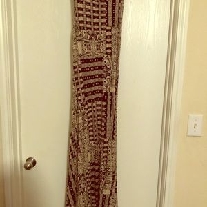 Ralph Lauren brown and tan Long dress